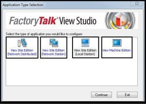 Factory talk view SE&ME Licence Selection - The Automization